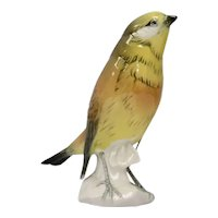 Karl Ens Volkstedt Germany Porcelain Yellow Bird Hand-Painted Porcelain Figurine Marked & Numbered