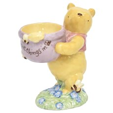 Disney's Winnie The Pooh 'a useful pot to put things in' Trinket Pot/Dish Ceramic Figurine