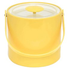'Georges Briard' Canary Yellow Ice Bucket w/ Lid