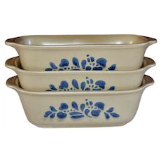 Pfaltzgraff Folk Art Pattern Ceramic Pottery Loaf Pan