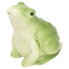 c1990 Enesco Fat Green Frog Figural Ceramic Figurine