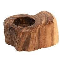 Natural Genuine Driftwood Burl Wood Tea Light Solid Wood Block Candle Holder