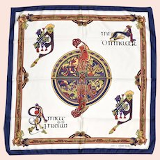 """Celtic Scarf Collection 'The Book of Kells' Square Neck Scarf - 27"""" x 26.5"""""""