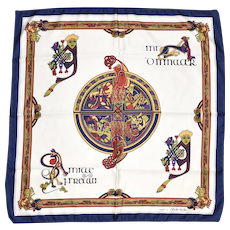 "Celtic Scarf Collection 'The Book of Kells' Square Neck Scarf - 27"" x 26.5"""
