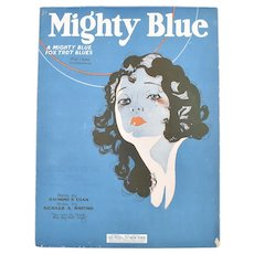 c1925 'Mighty Blue Fox Trot Blues' Sheet Music