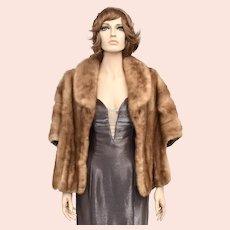 Ivey's Crystal Room Charlotte Pocketed Mink Fur Stole/Cape