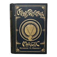 "c1922 ""New and Original Magic"" by Edward Massey Magic Tricks Black & Gold Hardcover Linen Book"