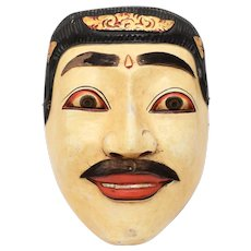 Indonesian King Dalem Topeng Dance Wooden Mask