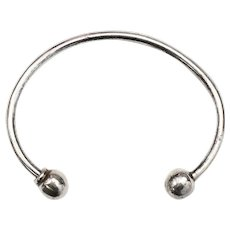 Sterling Silver Large Key Ring / Baby Bracelet