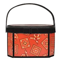 Red Bandanna & Black Velvet Hummel Art Box Purse