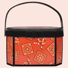 Red Bandanna & Black Velvet Hummel Art Box Purse