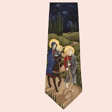 'St. Nicks Tie Shop' Mary, Joseph & Baby Jesus Traveling in Jerusalem on Mule Men's Tie