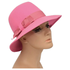 Miss Eileen by Henry Pollak 100% Wool w/ Ribbon Bow Ladies Hat