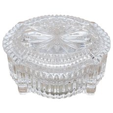 """Waterford Crystal Glass Music Box / Trinket Dish with Original Lid - Plays """"Memory"""" from """"Cats"""""""