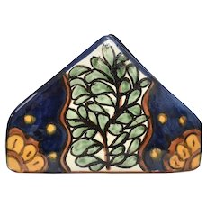 Mexico / Spain Traditional Talavera Majolica Earthenware Pottery Napkin Holder
