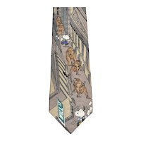 Peanuts Snoopy 'Bears, Bulls, and Beagles' Wall Street Men's Necktie