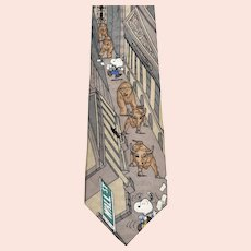 Peanuts Snoopy 'Bears, Bulls, and Beagles' Wall Street Men's Necktie