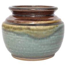 Sylvia Coppola NC Folk Art Pottery Glazed Vase