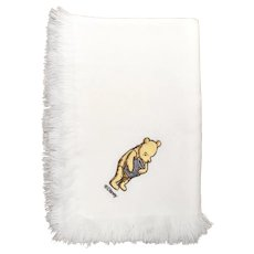 "Disney's Winnie the Pooh Soft White Woven Nursery Baby's Blanket - 37 "" x 28 """