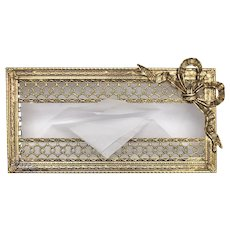 Stylebuilt Accessories Hollywood Regency Gold Filigree Tissue Box Cover / Case
