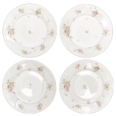 4Pc - Theodore Haviland Limoges France Spring Pink Roses