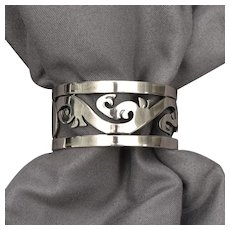 Taxco Sterling Silver Filigree Cut-out Napkin Ring