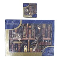Pimpernel England Premier Collection Art for the Table 'Frederick the Literate' 4 Placements & 6 Coasters - New Old Stock