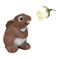 """Artist Don James Curious Brown Bunny Rabbit 3"""" Figurine / Sculpture - Great for Easter!"""