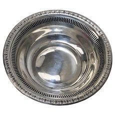 Ellmore Silver Co. Sterling Silver Acanthus Leaf Pierced Rim Nut or Candy Bowl / Dish