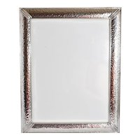 """Classic Sterling Silver Hammered Design 8 x 10"""" Photo Frame"""