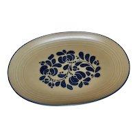Pfaltzgraff Folk Art Pattern Ceramic Pottery Oval Serving Platter