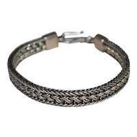 30 Gram Sterling Silver Mexican Style Woven Braid Design Bracelet