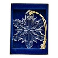"Mikasa Crystal Snowflake ""Joyous Collection"" Christmas Ornament in Original Box"