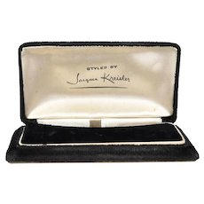 Art Deco Jacques Kreisler Black Velvet Earring & Bracelet or Brooch Presentation Box