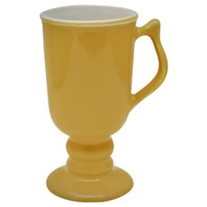 Hall China #1272 Tall Yellow Gold Irish Coffee Footed Ceramic Mug