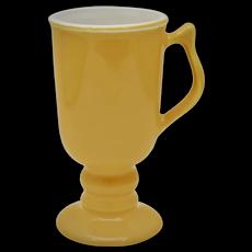 Hall China #1272 Tall Yellow Gold Irish Coffee Footed Ceramic Mug