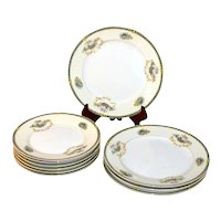 10-Pc Noritake Romance Yellow & White Floral Motif Porcelain Salad / Bread and Butter Plate Set