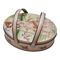 Valleybrook Farms Shabby Cottage Chic Double Handled Oval Candy Tin