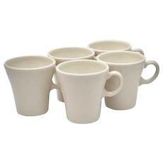 Set of 5 Syracuse China Restaurant Ware #SY874 Cream White 4oz Ceramic Mugs - 2 Sets Available
