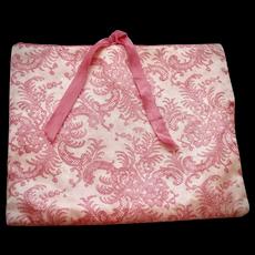 Schiaparelli Pink & White Lace Pattern Fabric Lingerie Bag