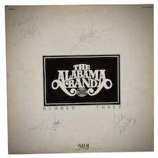 """c1979 Autograph Signed The Alabama Band """"Number Three"""" LP Vinyl Record w/ Original Sleeve Cover"""