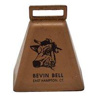 Bevin Bell East Hampton, CT Working Copper Metal Cow Bell