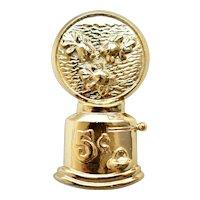 Large Whimsical Goldfish in Bubble Gum Machine Aquarium Figural Gold Tone Brooch / Pin