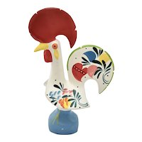 Portugal Good Luck Rooster Large Hand Painted Ceramic Figural Pottery