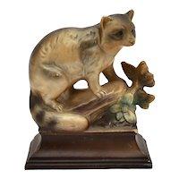 Tilso Japan Hand Painted Small Ceramic Raccoon Figurine