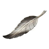 Sterling Silver Feather Figural Pin