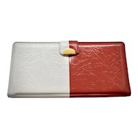 Never Used Dart Co. Red, White & Blue Patriotic American Vinyl Vegan Faux Leather Checkbook Wallet