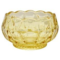 Indiana Glass Tiara Constellation Yellow Mist Nut Bowl /Candy Dish