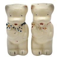 c1940s Shawnee Pottery Ceramic Teddy Bear Salt & Pepper Shakers