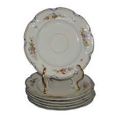 Set of 6 Early Antique English Porcelain Dinner Plates From The Rowena Willis Estate